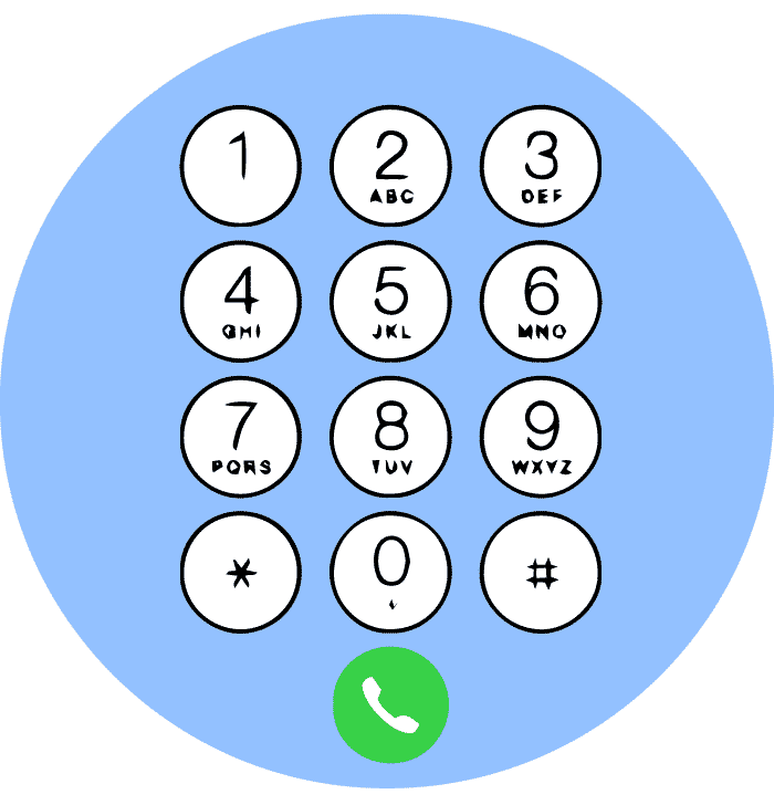 telephone voting number pad